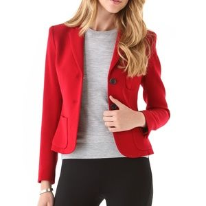 THEORY Nillian flame red tailored blazer jacket